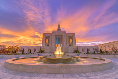 Sunset Photograph - Ogden Temple Sunset by Dustin  LeFevre