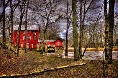 Grist Mill Photograph - Historic Ogeechee Mill Ogeechee River Hancock County by Reid Callaway