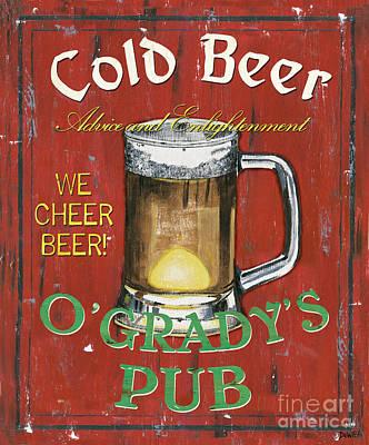 O'grady's Pub Print by Debbie DeWitt