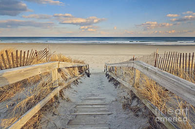 Maine Shore Photograph - Ogunquit Beach Boardwalk by Katherine Gendreau