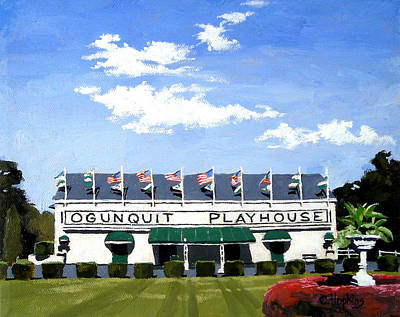 Ogunquit Beach Painting - Ogunquit Playhouse Ogunquit Maine by Christine Hopkins