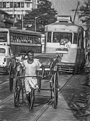 Oh Calcutta - Paint Bw Print by Steve Harrington
