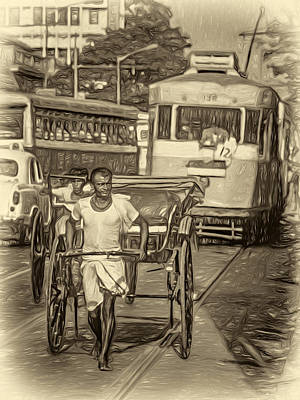 Oh Calcutta - Paint Sepia Print by Steve Harrington
