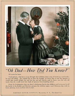 Oh Dad How Did You Know? 1917. Print by Unknown Photographer