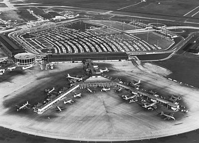 International Airport Photograph - O'hare International Airport by Underwood Archives