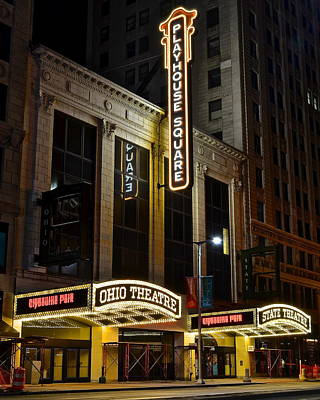 Ohio And State Theaters Print by Frozen in Time Fine Art Photography