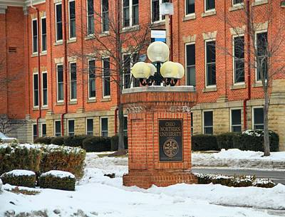 Ada Photograph - Ohio Northern University In Winter by Dan Sproul