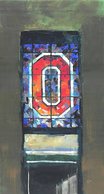 College Football Painting - Ohio Stadium Entrance by Stan Fellows