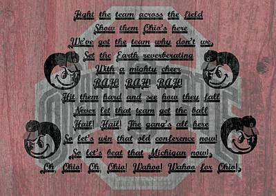 Ohio State Buckeyes Fight Song Print by Dan Sproul