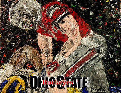 Osu Painting - Ohio State Buckeyes  by Mark Moore