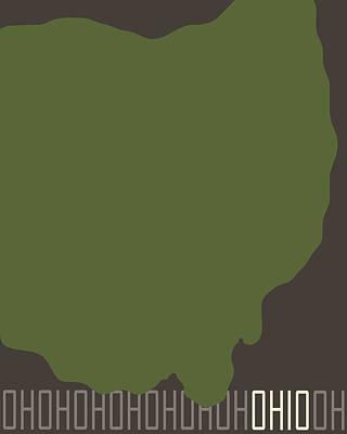Color Block Digital Art - Ohio State Modern by Flo Karp