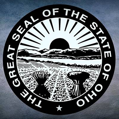 Sun Rays Digital Art - Ohio State Seal by Movie Poster Prints