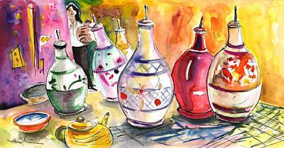 Oil Dispensers From Taormina Print by Miki De Goodaboom