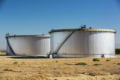 Oil Field Infrastructure Print by Ashley Cooper
