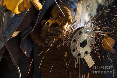 Cylinder Photograph - Oil Industry Pipefitter Welder by Keith Kapple