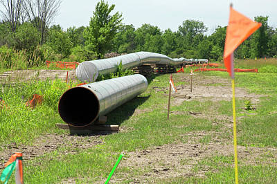 Oil Pipeline Construction Print by Jim West