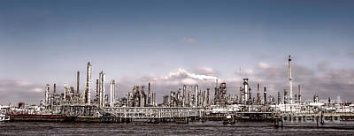 Industrial Photograph - Oil Refinery by Olivier Le Queinec