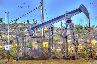 Oil Rig Print by Chuck Staley