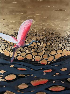 Oil Slick Original by Art Nomad Sandra  Hansen