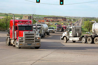 Good Energy Photograph - Oil Trucks by Jim West