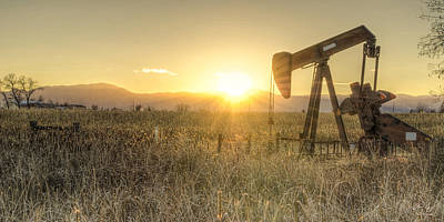 Sunset Photograph - Oil Well Pump by Aaron Spong