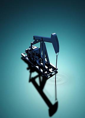 3d Artwork Photograph - Oil Well Pump by Victor Habbick Visions