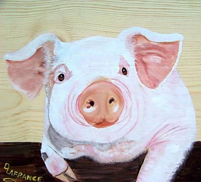Oink Print by Debbie LaFrance