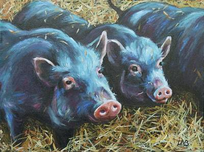 Oink Print by Louise  Brown