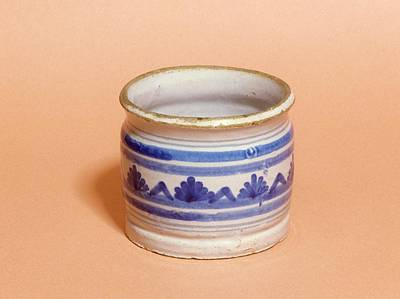Ceramics Photograph - Ointment Pot by Science Photo Library