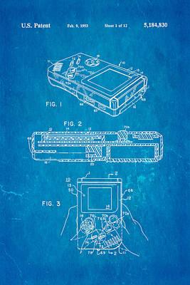 Okada Nintendo Gameboy 2 Patent Art 1993 Blueprint Print by Ian Monk