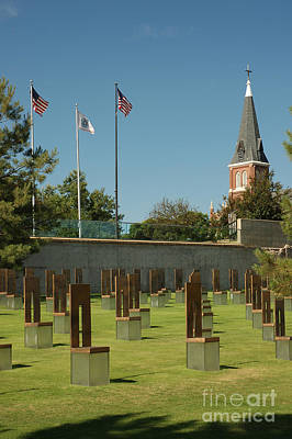 Empty Chairs Photograph - Oklahoma City National Memorial by Richard and Ellen Thane