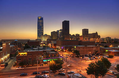 Okc Photograph - Oklahoma City Nights by Ricky Barnard
