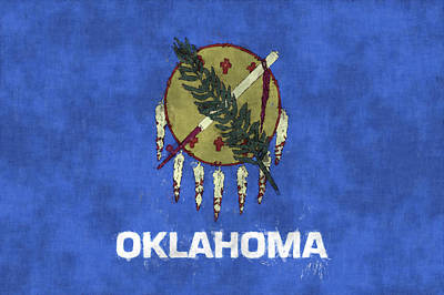 Oklahoma Flag Print by World Art Prints And Designs