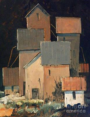 Feed Mill Painting - Oklahoma Industry by Micheal Jones