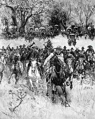 Oklahoma Land Rush, 1891 Print by Granger