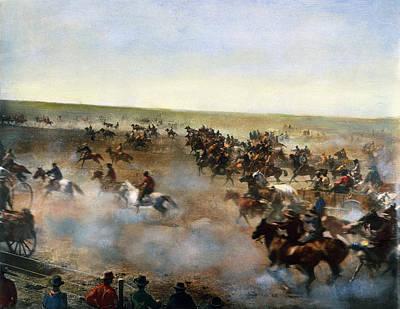 Ambition Photograph - Oklahoma Land Rush, 1893 by Granger