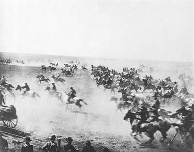 The Cowboy Photograph - Oklahoma Land Rush by Barney Hillerman