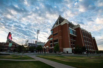Oklahoma University Photograph - Oklahoma Memorial Stadium by Nathan Hillis