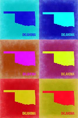Oklahoma Painting - Oklahoma Pop Art Map 2 by Naxart Studio
