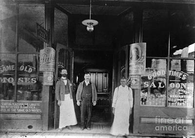 Storefront Photograph - Oklahoma: Saloon, C1900 by Granger