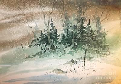 Oklahoma Snow Print by Micheal Jones