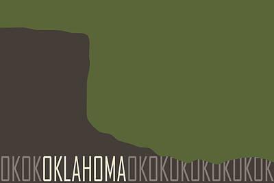 Color Block Digital Art - Oklahoma State Modern by Flo Karp