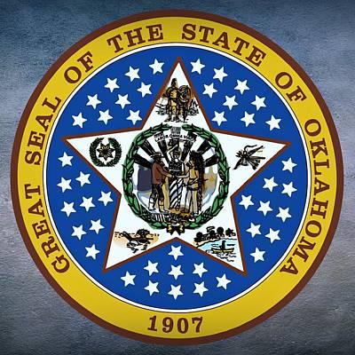 Oklahoma State Seal Print by Movie Poster Prints