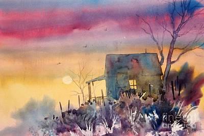 Oklahoma Sunset Print by Micheal Jones