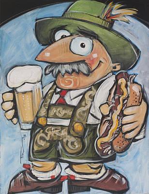 Oktoberfest Guy Print by Tim Nyberg