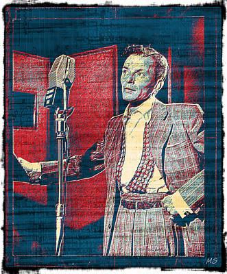 Ol' Blue Eyes - Frank Sinatra Print by Absinthe Art By Michelle LeAnn Scott