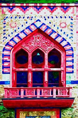 Church Pillars Painting - Olana 10 by Lanjee Chee