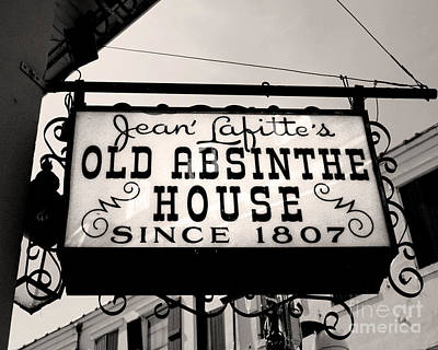Absinthe Photograph - Old Absinthe House by Jillian Audrey Photography