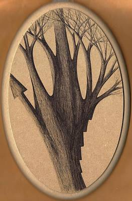 Old Age Lies In Wood Print by Giuseppe Epifani