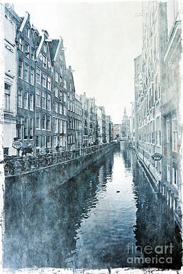 Manipulation Photograph - Old Amsterdam by Sophie Vigneault